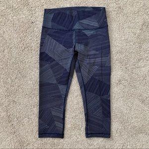 Lululemon Navy Blue Cropped Leggings